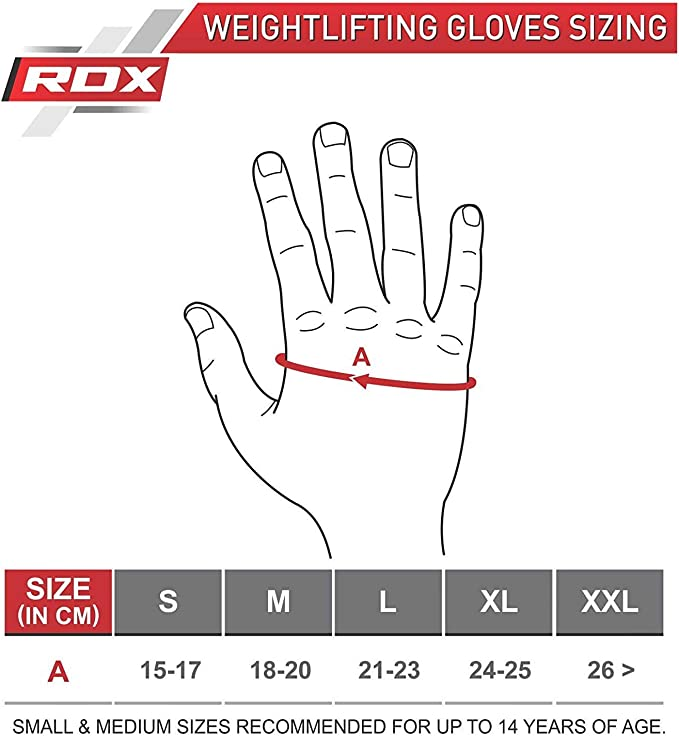RDX Guanti Palestra Sollevamento Pesi Fitness bodybuilding Splendente IT