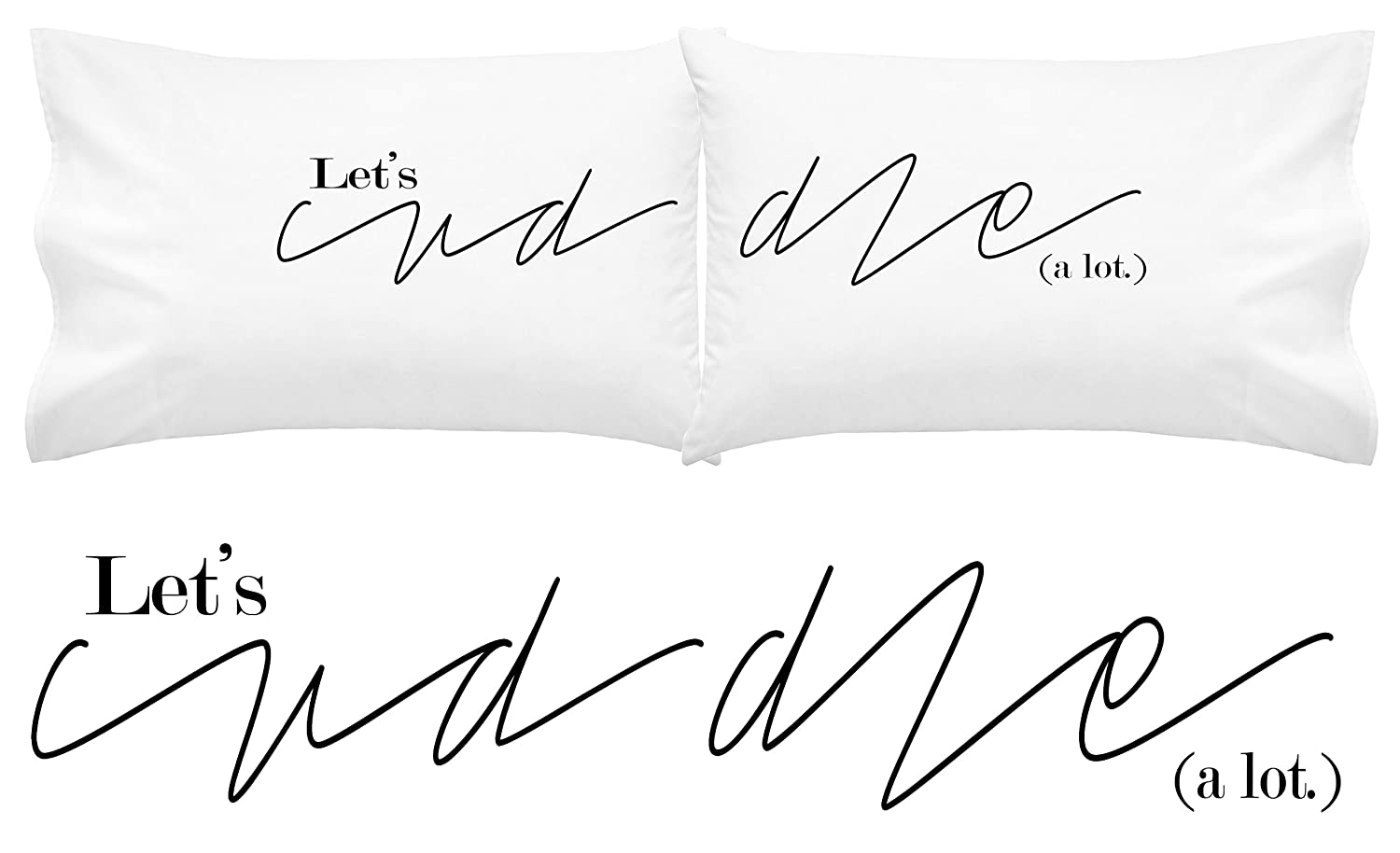 Amazon oh susannah lets cuddle pillow cases his and hers amazon oh susannah lets cuddle pillow cases his and hers couples pillow cases two 20x30 standard size pillowcases mrs and mr long distance gifts biocorpaavc Gallery