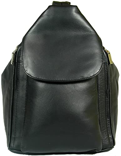 New girls/ladies gorgeous Visconti soft black leather backpack bag ...