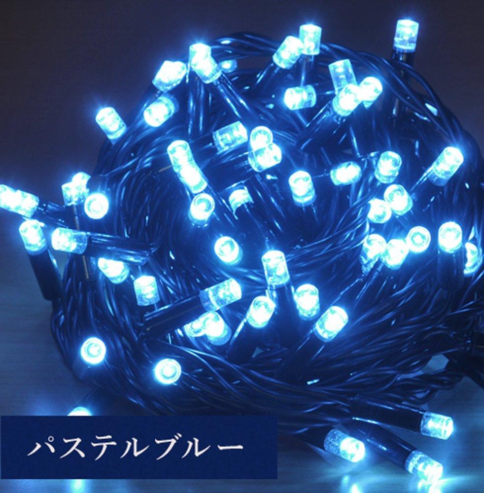 iimono117 高輝度 LED イルミネーション [ 6m ~ 120m ] 完全防水 IP65 屋内外装飾 (18m(300球), パステルブルー) B076D5N8KF 12400 18m(300球)|パステルブルー パステルブルー 18m(300球)