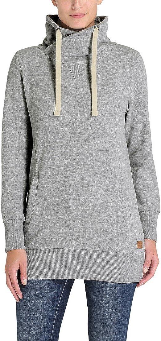 Desires Jannika Damen Langes Sweatshirt Pullover Longpullover mit Stehkragen