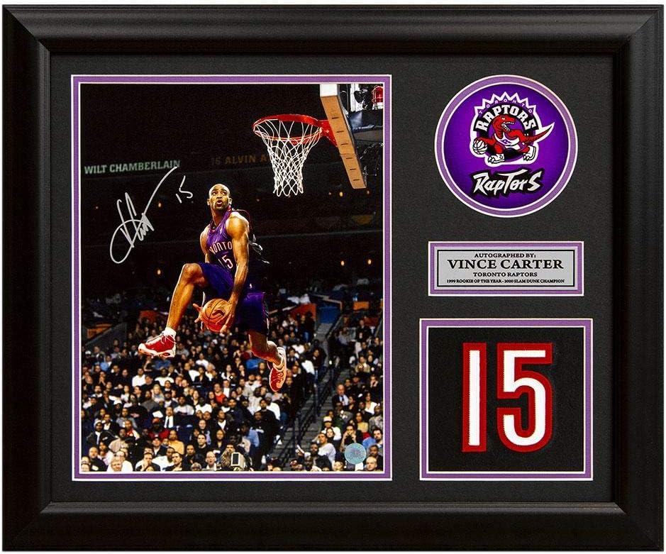 Autographed NBA Photos Vince Carter Toronto Raptors Autographed Franchise Jersey Number 19x23 Frame