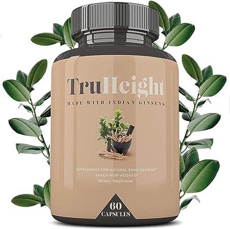 Height Growth Formula - Grow Taller Supplement - Supplement for Natural Bone Growth - Height Pill Supplement - Keto & Vegan with Indian Ginseng