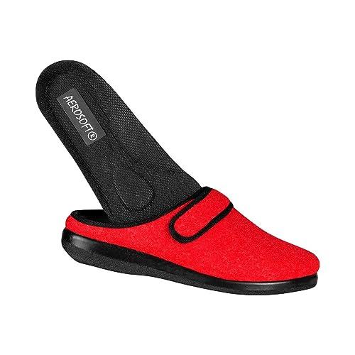 Con Fissaggio Pantofole Aerosoft Rosso Velcro rot Eu In 36 gSdqqw5FRx