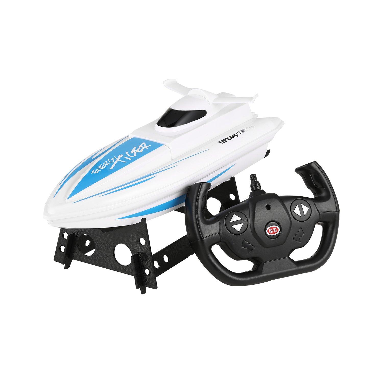 FPVRC Boot RC elektrische, 2.4GHz 4CH 30km/h RC Schiffe Boot Spielzeug für Kinder–RTR Dimensioni: 295*110*82mm blau 678Toys