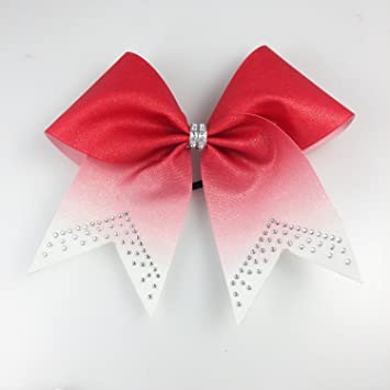 amazon com red glitter ombre cheer bow cheer bows red cheer