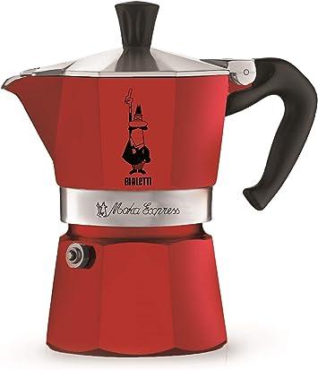 Bialetti Moka Express Red, Cafetera Italiana Espresso, Aluminio, 1 ...