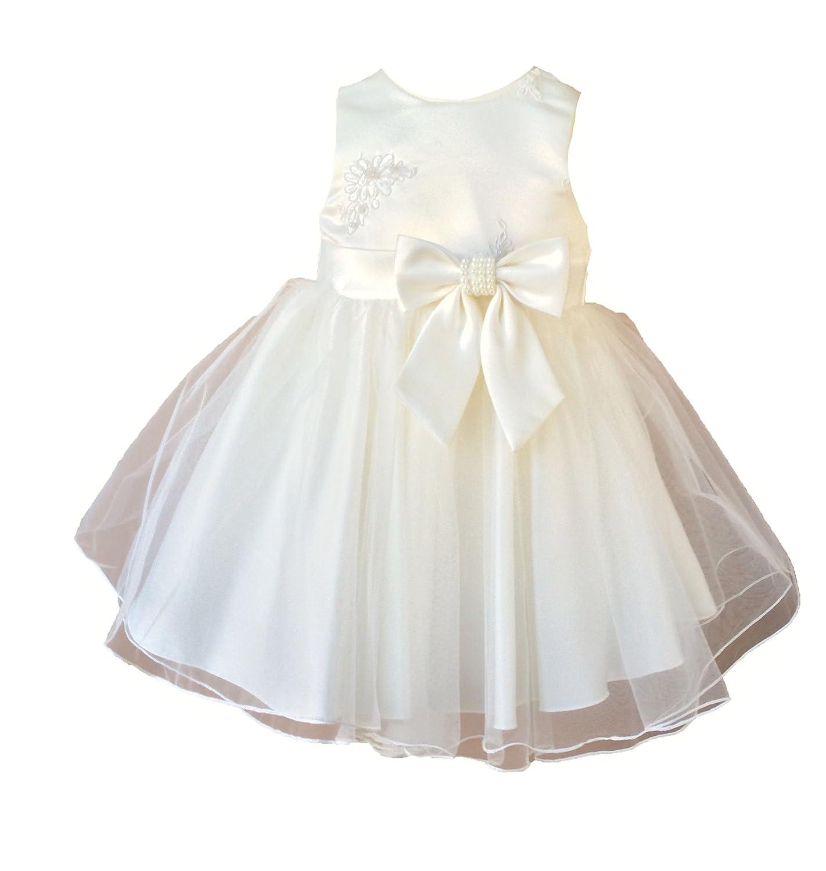 Elena Taufkleid Hochzeitskleid Blumenmädchenkleid Festkleid Sommer Festlich Ivory