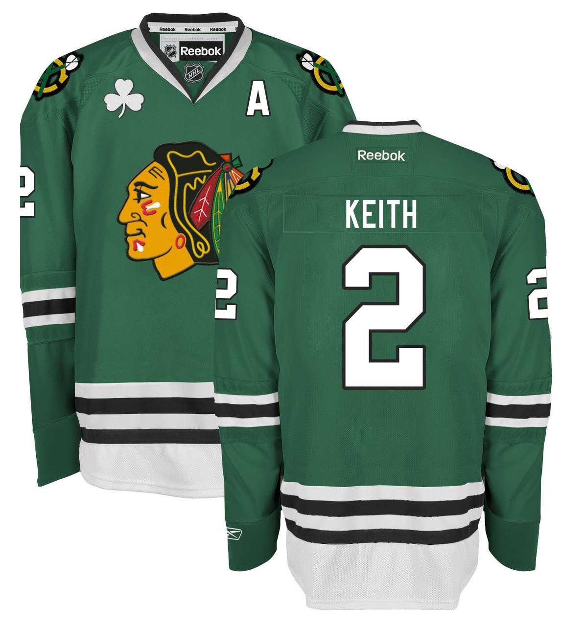 Amazon.com   Duncan Keith Chicago Blackhawks Green Premier Jersey by Reebok    Sports   Outdoors e599d51b059