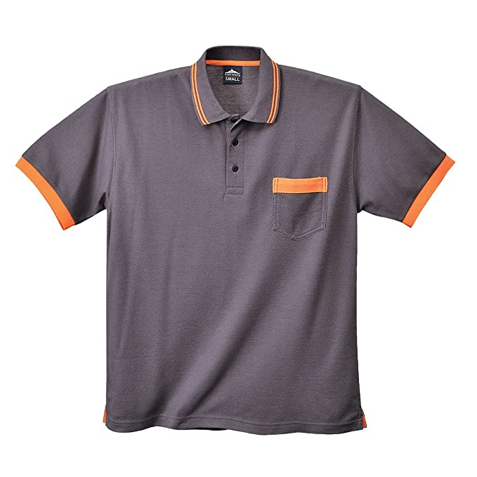 Portwest - Polo - para Hombre Grau/Orange: Amazon.es: Ropa y ...