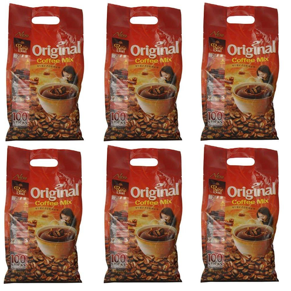Rosebud Original Coffee Mix (12g x 100 sticks) - Pack of 6