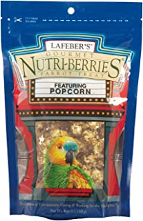 product image for LAFEBER'S Gourmet Popcorn Nutri Berries Treat, Made with Non-GMO and Human-Grade Ingredients, for Cockatiels and Parrots