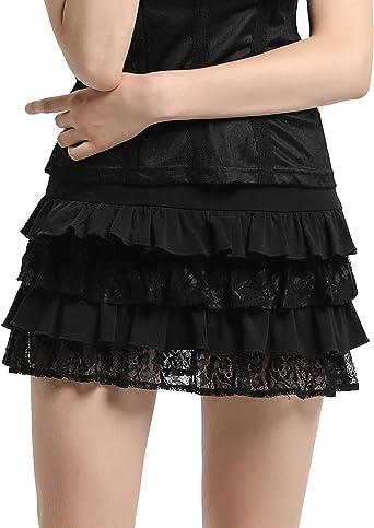 SCARLET DARKNESS Falda de Mujer-Cullote Pantalones Casual Encaje ...