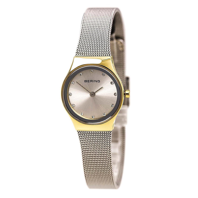 Bering Armbanduhr Damenuhr Quarz Uhr - Fair novelty - Analoge Uhr mit Zirkonias, silbernem Edelstahlarmband und silbernem Zifferblatt - 30m/3atm - 12924-001