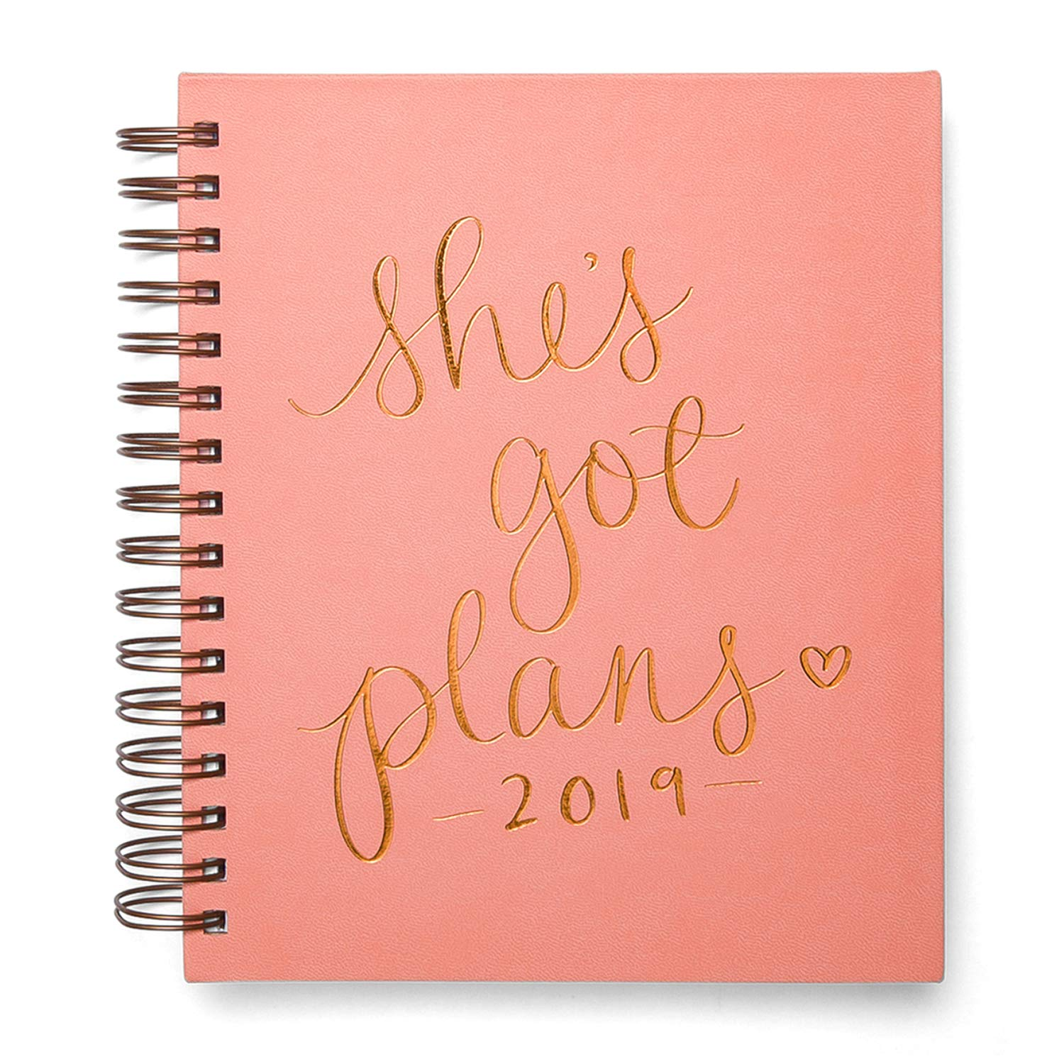 """Amazon.com : 2019 Eccolo Spiral Agenda Planner, """"She's Got Plans""""  Hardcover, Sticker Sheets, Full Color Graphics and Quotes. 7.25 x 8.75 :  Office Products"""