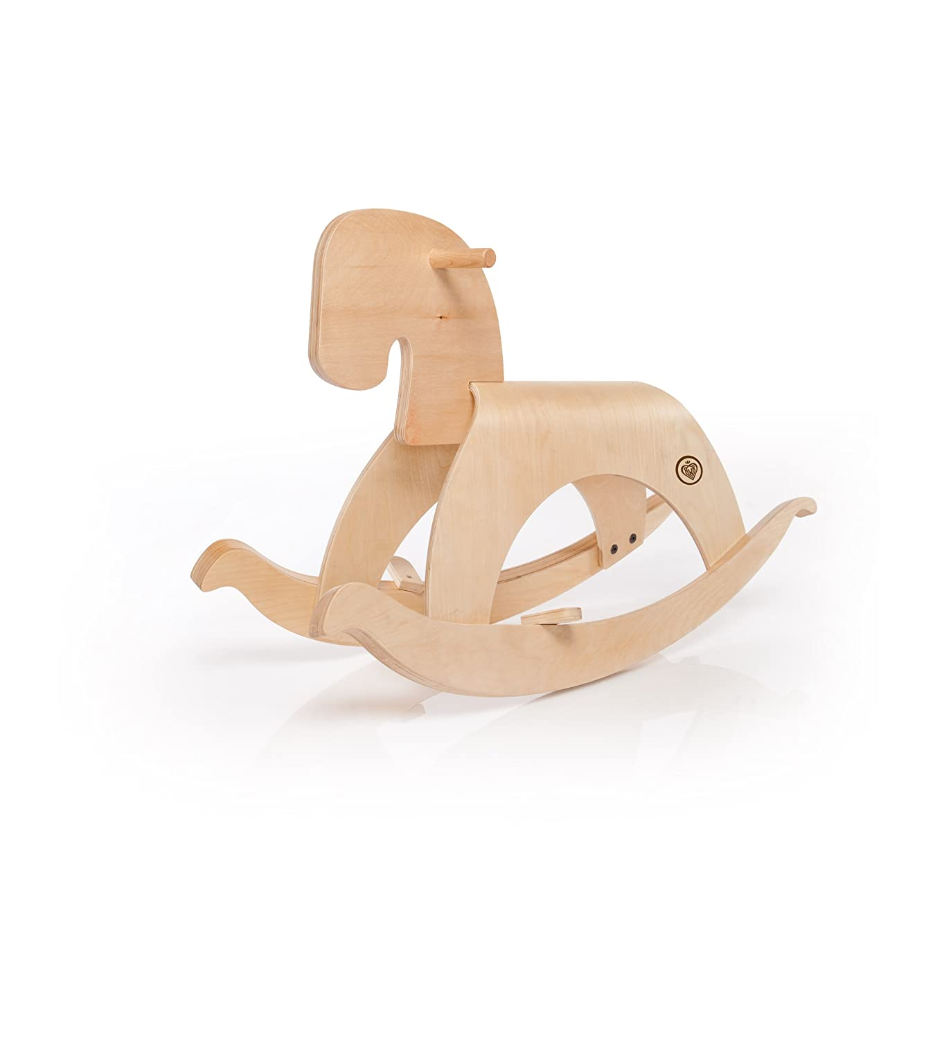 amazoncom  prince lionheart woody the rocking horse tan wood  - amazoncom  prince lionheart woody the rocking horse tan wood(discontinued by manufacturer)  push and pull baby toys  baby