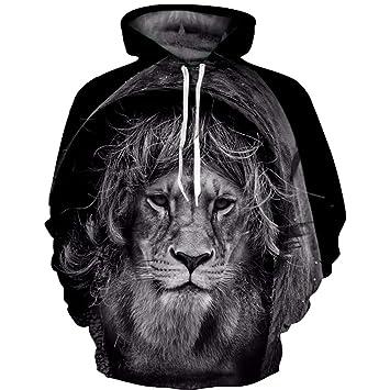 LYJLYJ 3D Animal Print suéter, Unisex, Personalidad de la Moda, el Hoodie,