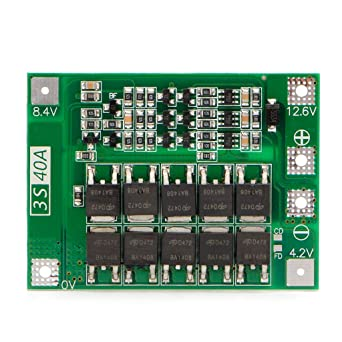 3S 11.1V 12.6V 100A w//Balance Li-ion Lithium 18650 Battery BMS Protection Board