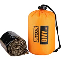 Utool Ultralight Emergency Sleeping Bag Waterproof Bivy Sack Bivvy Cover with Heat Retention for Camping, Hiking…