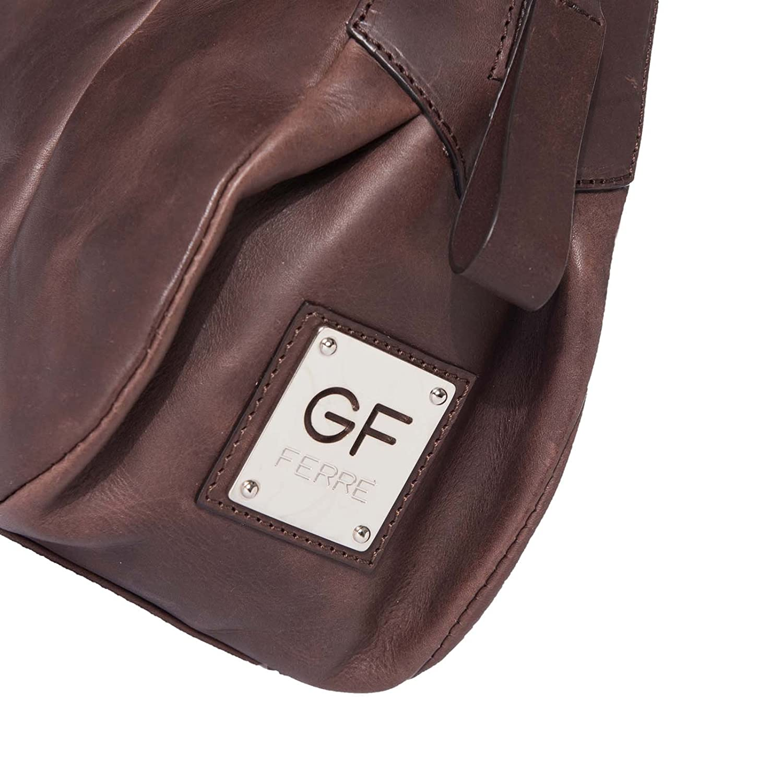 Gian Franco Ferre Women Handbag Genuine Leather Brown x 120 CM
