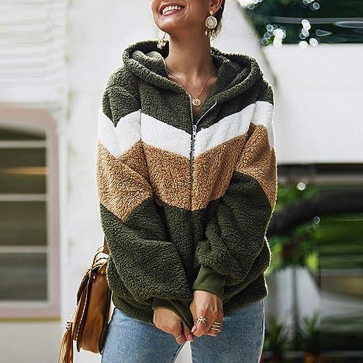 L, Grey Sunfei /®Women Sweatshirt Dress Double Split Hoodie Pullover Pockets Sweater