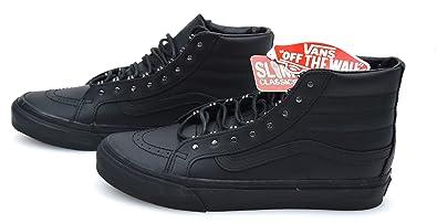 c1c8bde3dca6 Vans Woman Sneaker Shoes Casual Free TIME Leather SK8-HI Slim Rivet  VN00018IJV1