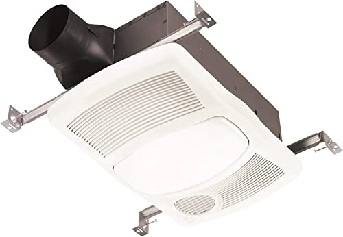 NuTone 765H80L 80 CFM 2 Sone Ceiling Mounted Exhaust Fan with Heater and LED Light