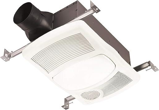 NuTone 668RP 70 CFM 4 Sone Ceiling Mounted HVI Certified Bath Fan with Light
