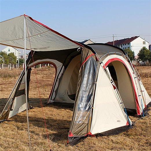 ZWYY Spacious,Anti-UVTienda de campaña, Dos Habitaciones y una Sala de Estar Impermeable Camping Familia Carpas Doble Capa Espacio Grande 8 o más Personas Viaje Tienda de Excursionismo: Amazon.es: Jardín