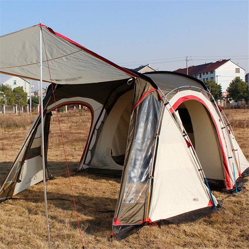 Zelt, Zwei Zimmer und EIN Wohnzimmer wasserdicht Camping Family Zelte Doppel-Ebene Large Space 8 oder mehr  Herrenchen Reisen Wanderzelte