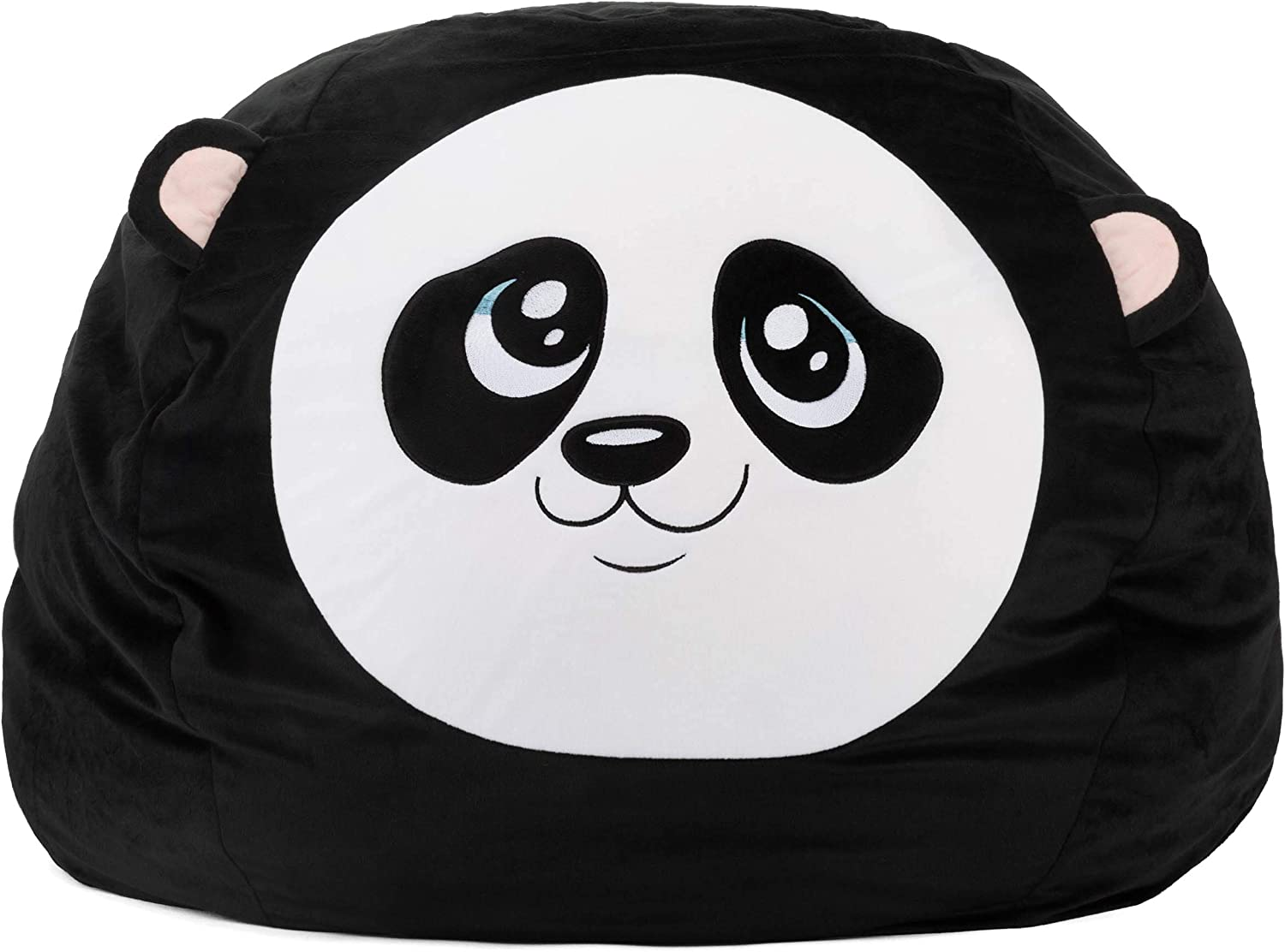 Roomganize Extra Large Animal Bean Bag Chair Cover and Soft Toy and Linen Storage Organizer for Room Decor and the Everyday Tidiness Moms Love (Panda)