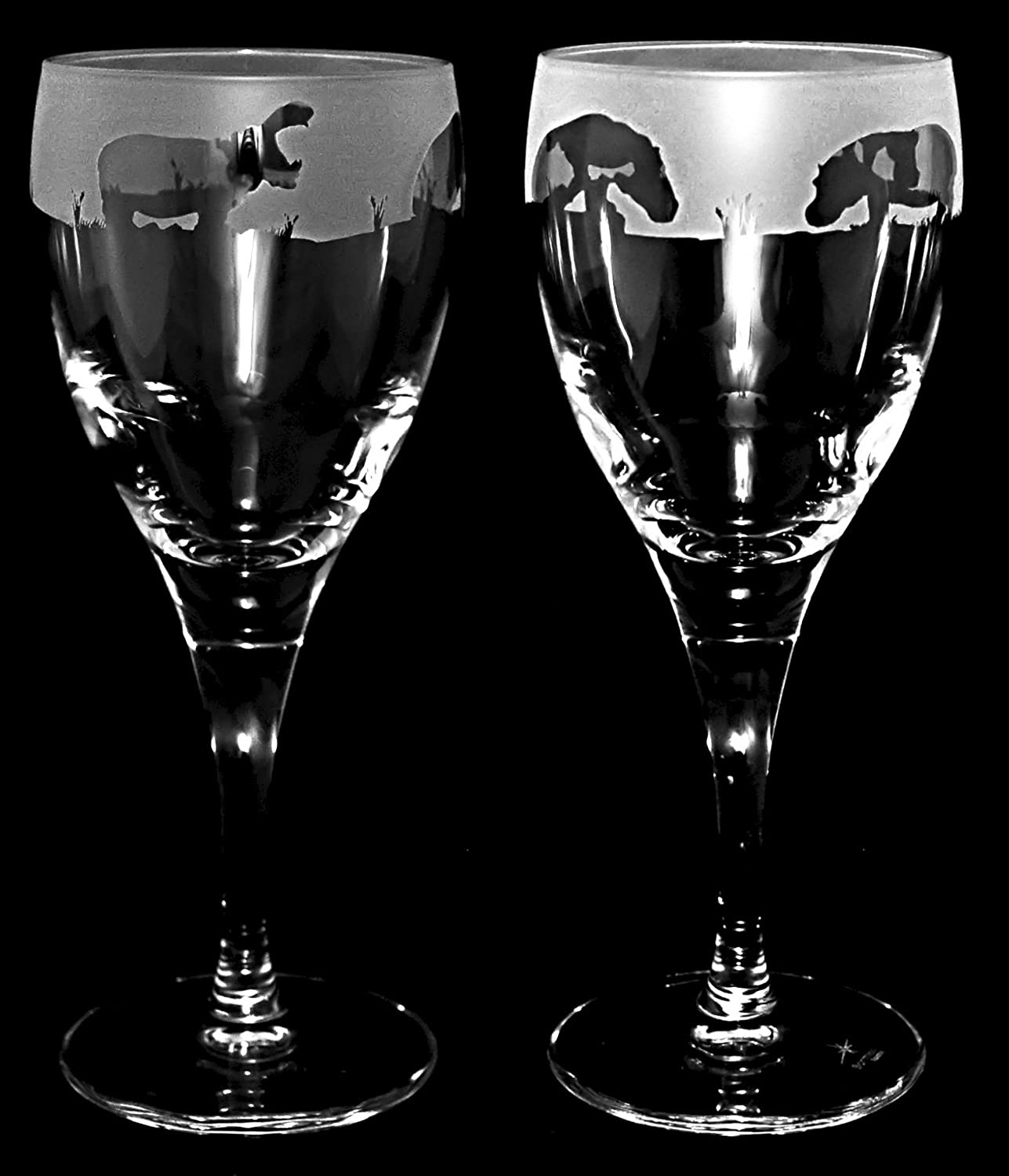 HIPPO GIFT* Wine Glass (Boxed pair of wine glasses) with HIPPO ...