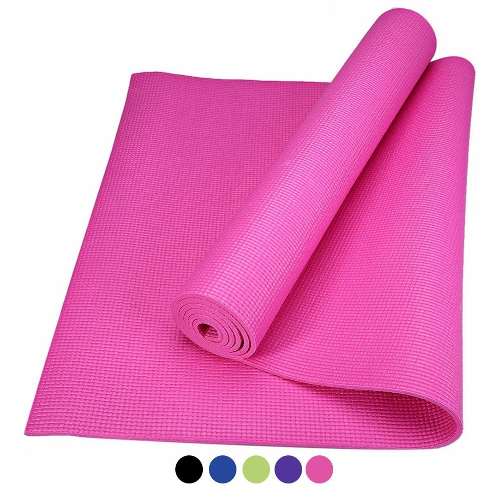 ROMIX® Yoga Mat, Non-Slip Premium Quality Eco Friendly PVC Free 6mm Thick Exercise Pad for Home and Travel, 72 inch High Density Foam, Non Toxic, Latex Free, Good for Your Knees and The Earth
