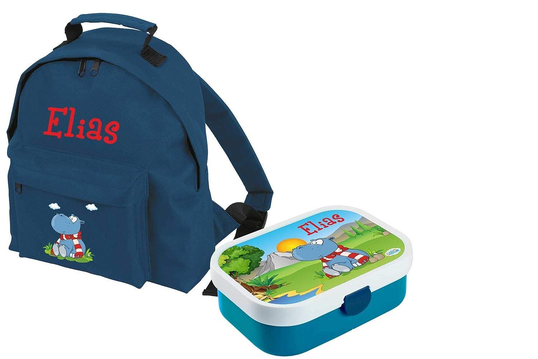 Mein Zwergenland Set 1 Kindergartenrucksack Classic und Brotdose Mepal Bento Box mit Gabel mit Name Traktor, 2-teilig, Navy B07KM8HMHN   Online Store