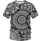 BNSSOL Mandala Streetwear Mens Tshirt Male Cool T-Shirt Breathable Casual T Shirt