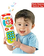 ACTRINIC Baby 6-12 months Remote Control Toys with Multi-function,Lights/Music,Click and Count Remote Best Gifts for Early Educational Baby Toys for 1 Year Old for Toddlers/Boys / Girls