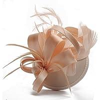 Nvfshreu Velo de mujer elegante para traje de novia, sombrero, sombrero de boda, estilo sencillo, para fiestas de té…