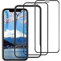 2枚セット iPhone 11/iPhone XR ガラスフィルム 6.1インチ 日本旭硝子強化ガラス液晶保護フィルム 9H硬度 3D全面保護 防爆裂 指紋防止 気泡ゼロ 自己吸着 飛散防止 ガイド枠付き