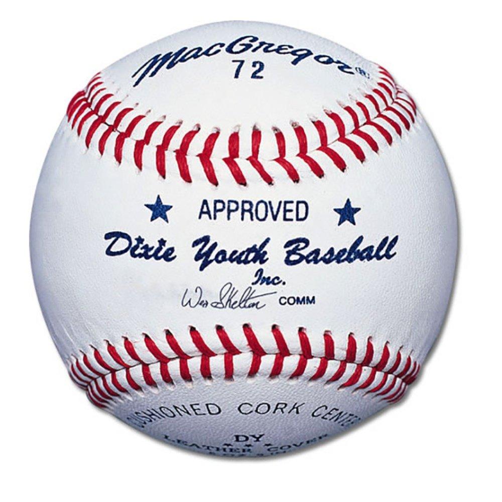 MacGregor Youth 72 Official Dixie Baseball (One Dozen) MCB72CXX