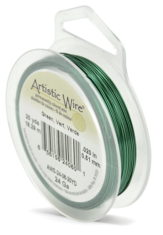 20-Yards Artistic Wire 24-Gauge Green Wire