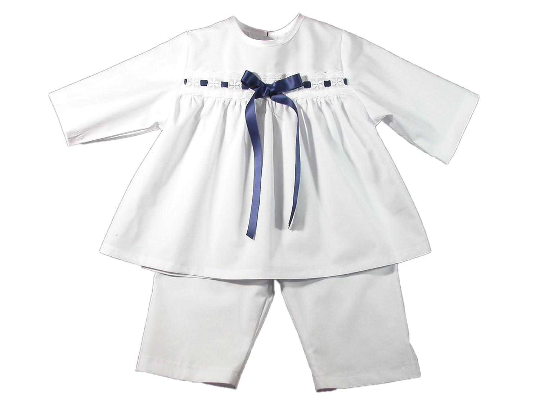 Bateo Design Taufanzug Kai mit dunkelblauer Schleife