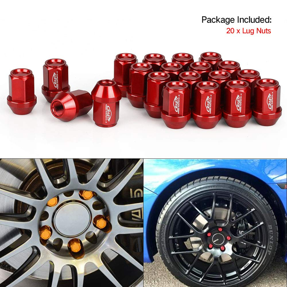 Purple, 1.5 Performance 20PCS M12x1.5 M12X1.25 Racing Forged 7075-T6 Lightweight Lug Nuts 35MM Wheel Lug Nut RS-LN045 RASTP