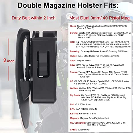 Amazon com : HQDA Double Magazine Pouch with Paddle