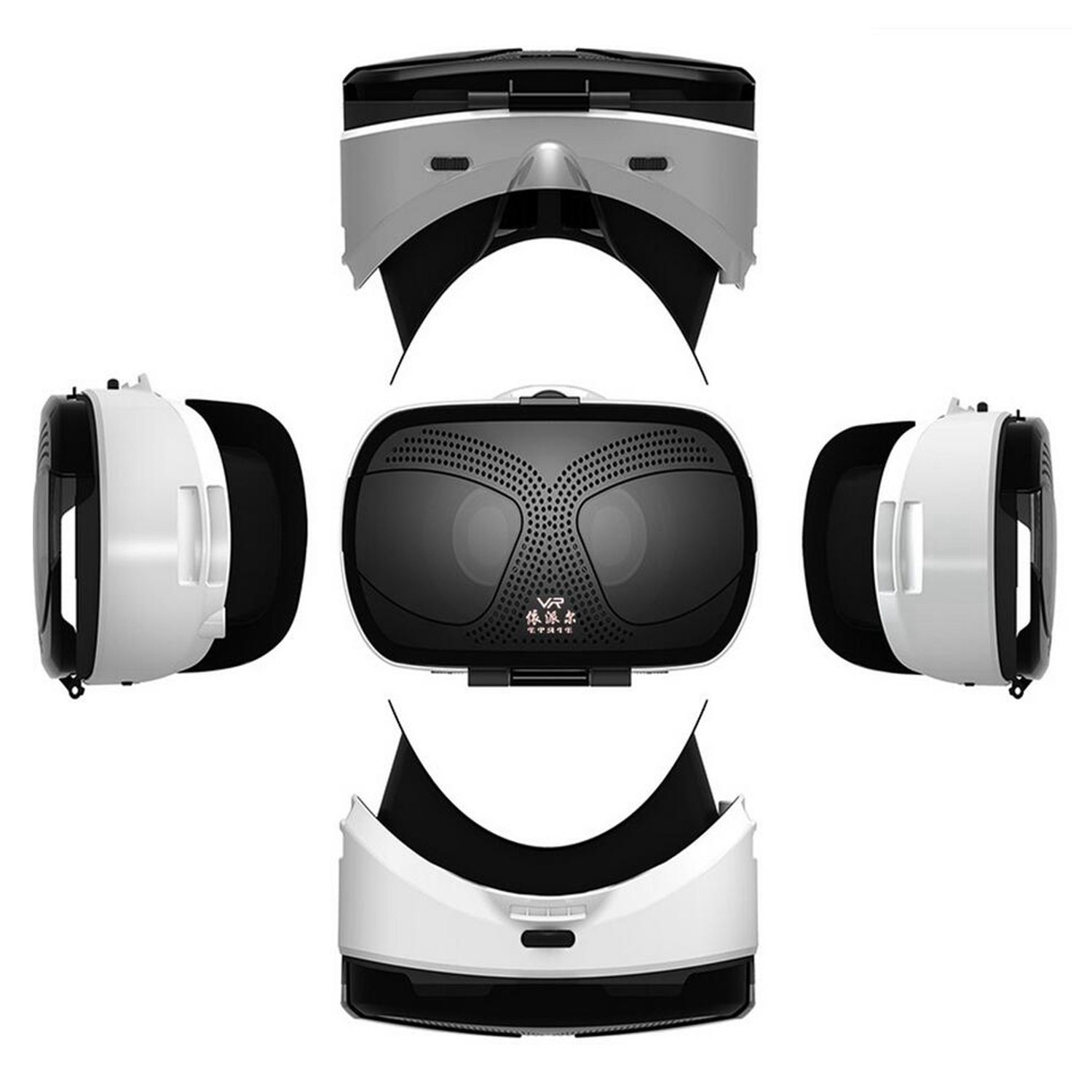"""VR Virtual Reality Headset, 3D VR Glasses for Movies Games VR Headset for Samsung Galaxy S8 S7 Edge S6 S5 Mini iPhone 8 7 6S 6 Plus & Other 4.5-6.0"""" IOS Android PC Smartphones like LG Google Pixel etc TSANGLIGHT"""