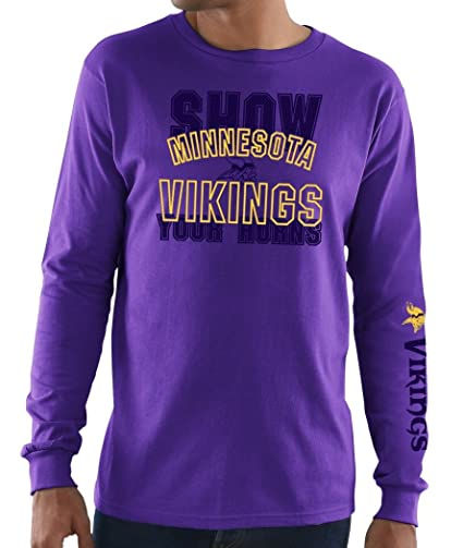 Minnesota Vikings Mens Purple Primary Receiver 3 Long Sleeve T Shirt(M 38) 9fede891f