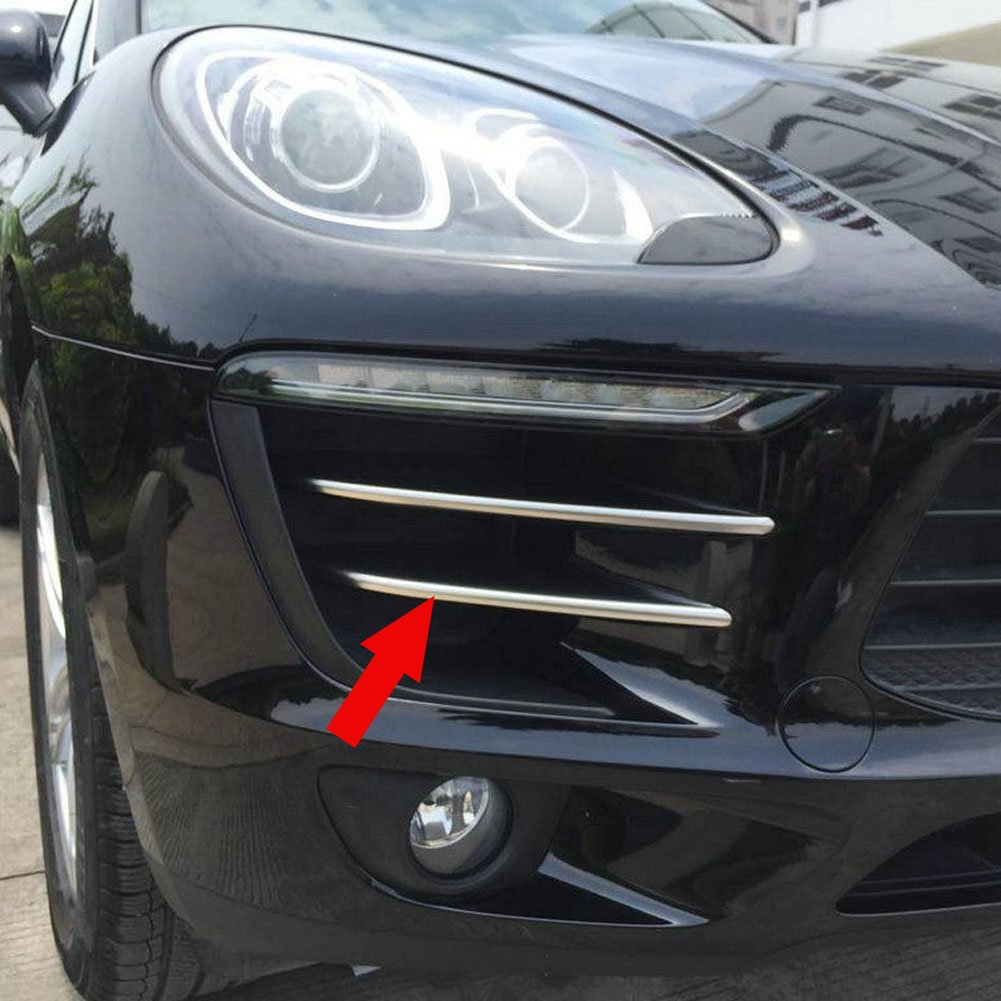 Generic Matte Front Corner Mesh Grill Molding Cover Trim Fit For Porsche Macan 2014 2015 2016 2017 Kate Wenzhou automobile supplies factory