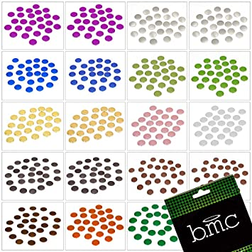 Bmc Multiple Sizescolors Manicure Nail Art Disc Studs Accessory