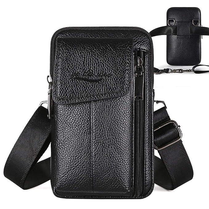 53e4e2c8952 Amazon.com: Large Leather Belt Bag Mens Purse Wallet Case Cellphone ...