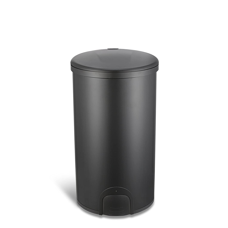 12 Gal 45L Fuzhou NaShiDa Electronic Co. Round, Black Lid NINESTARS TTT-45-8BK Automatic Tap Sensor Trash Can Black Steel Base