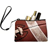Rikki Knight American Football Close-Up Design Keys Coins Cards Cosmetic Mini Clutch Wristlet
